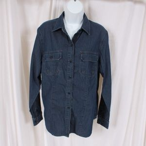Lauren Jeans Co. Long Sleeve Chambray Shirt